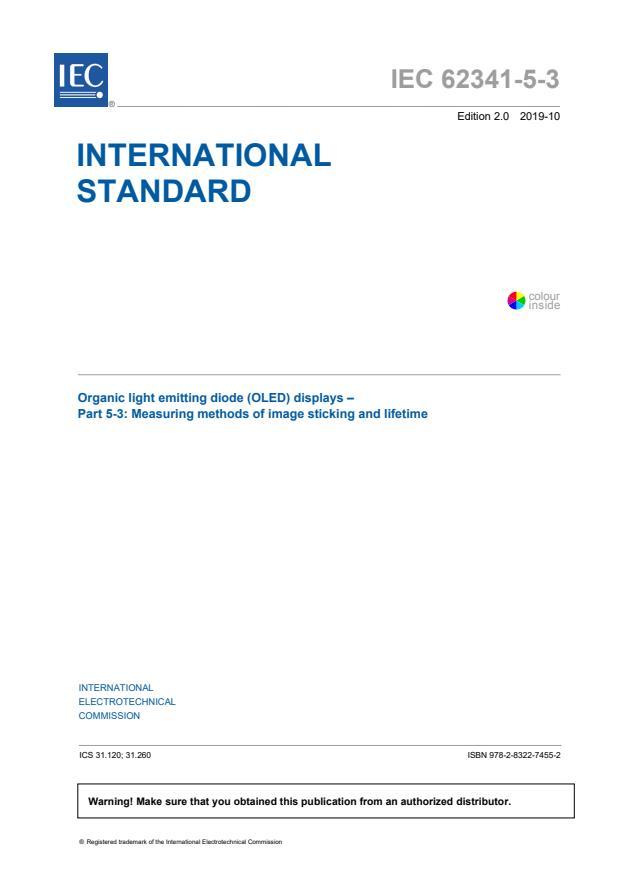 IEC 62341-5-3:2019