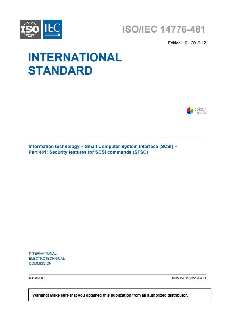 ISO/IEC 14776-481:2019