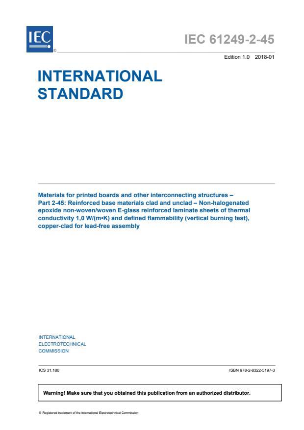 IEC 61249-2-45:2018