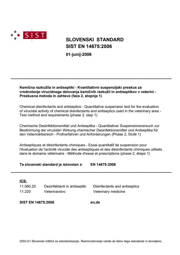 EN 14675:2006