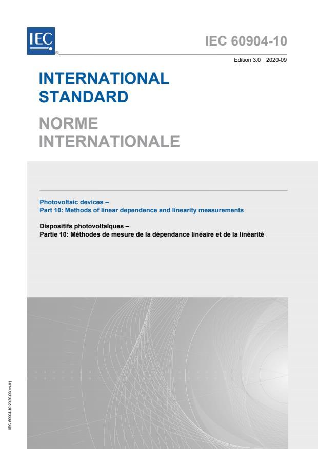 IEC 60904-10:2020
