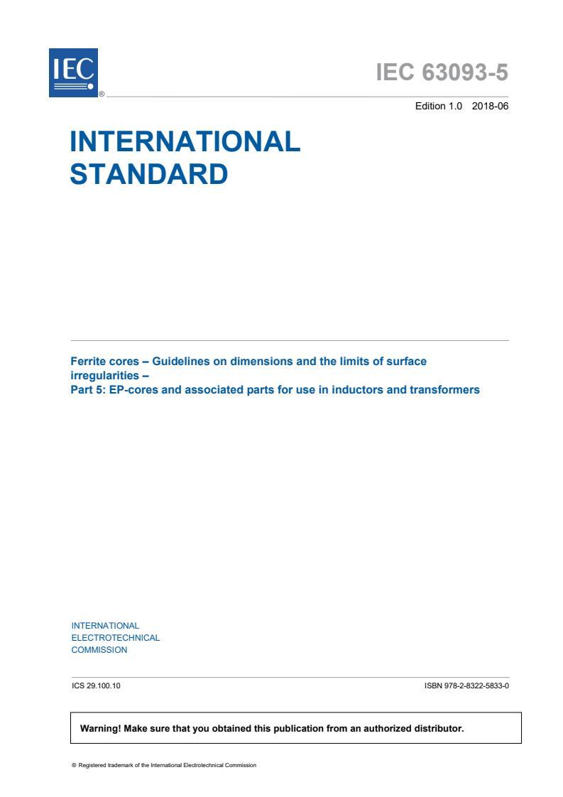 IEC 63093-5:2018