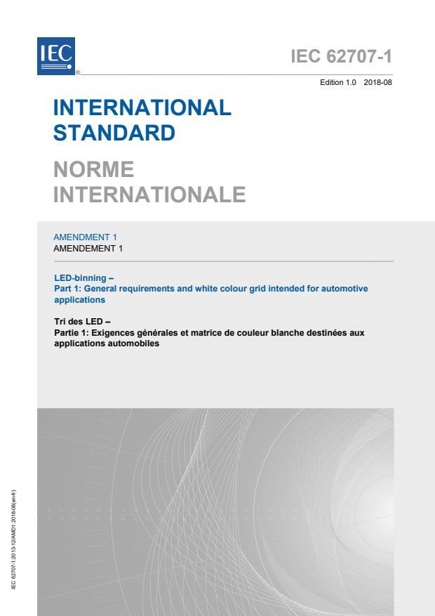 IEC 62707-1:2013/AMD1:2018