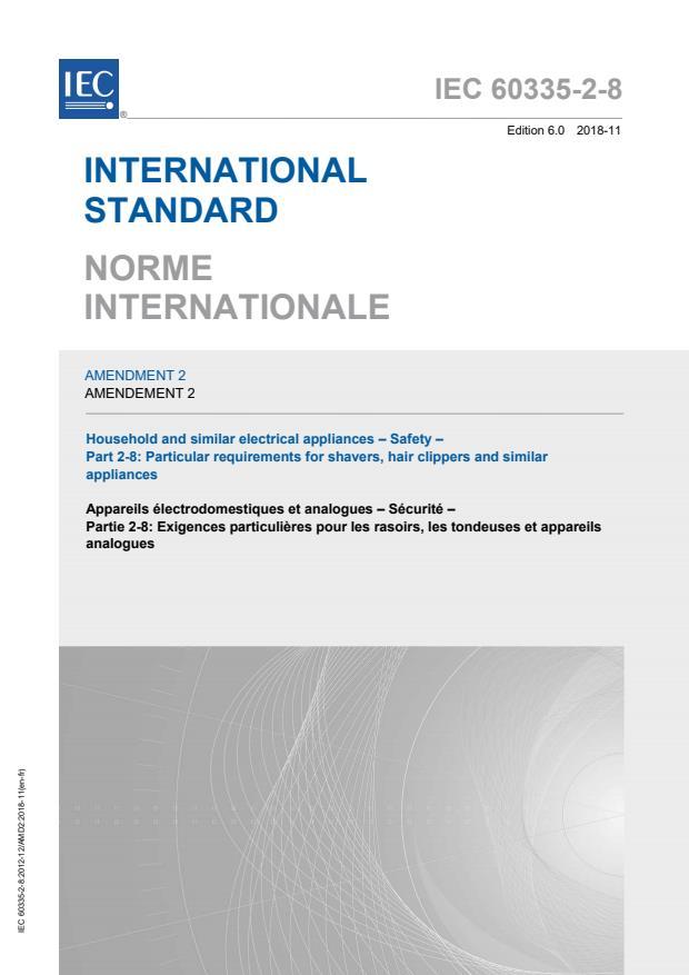IEC 60335-2-8:2012/AMD2:2018