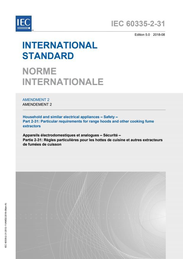 IEC 60335-2-31:2012/AMD2:2018