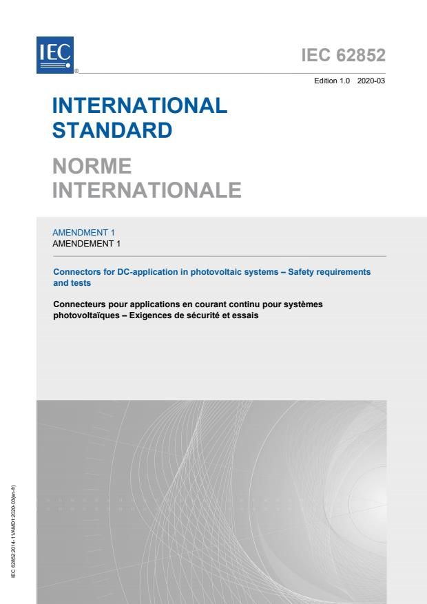 IEC 62852:2014/AMD1:2020