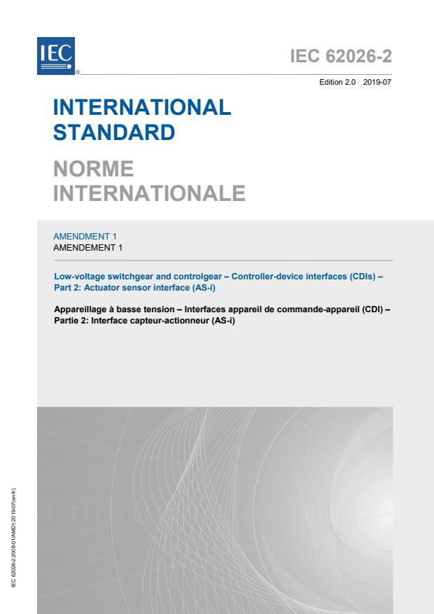 IEC 62026-2:2008/AMD1:2019