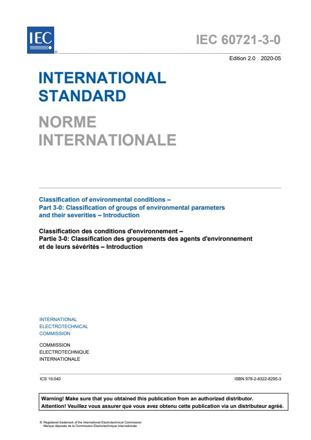 IEC 60721-3-0:2020