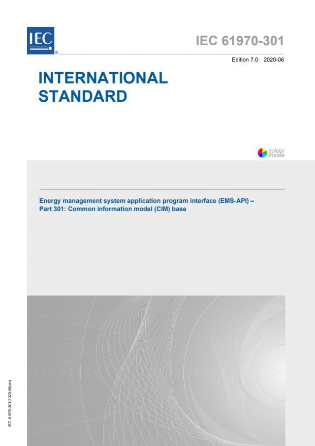 IEC 61970-301:2020 - Energy management system application program interface (EMS-API) - Part 301: Common information model (CIM) base