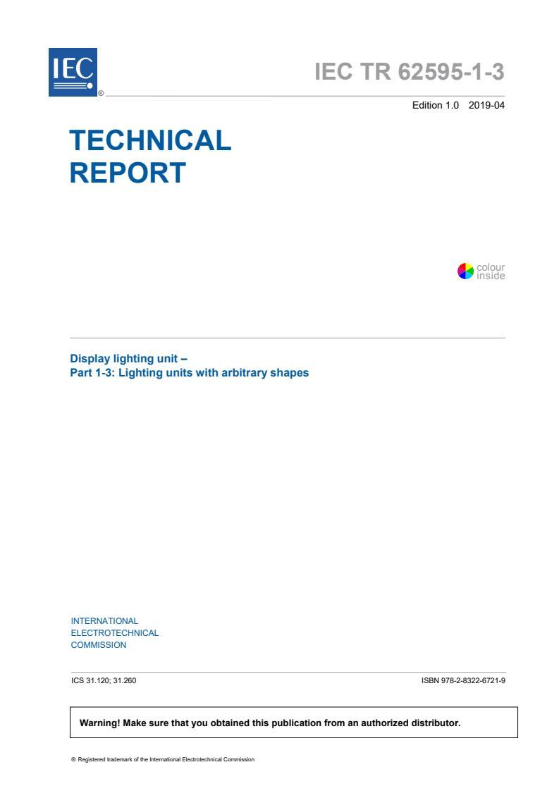 IEC TR 62595-1-3:2019