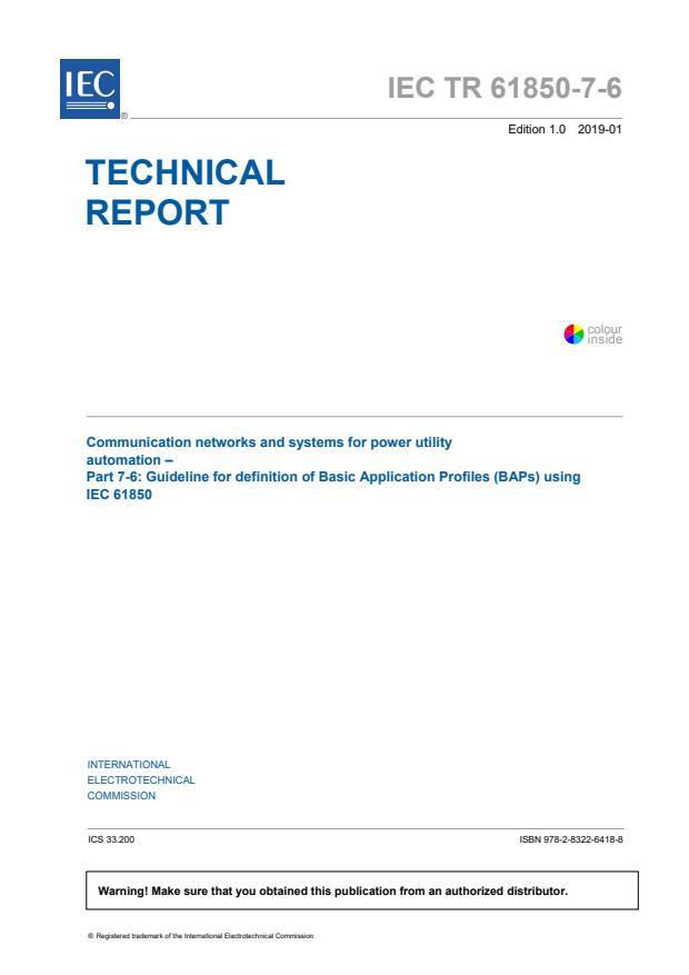 IEC TR 61850-7-6:2019