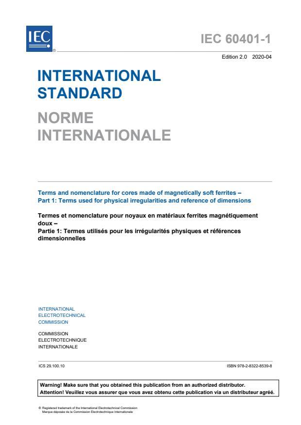 IEC 60401-1:2020