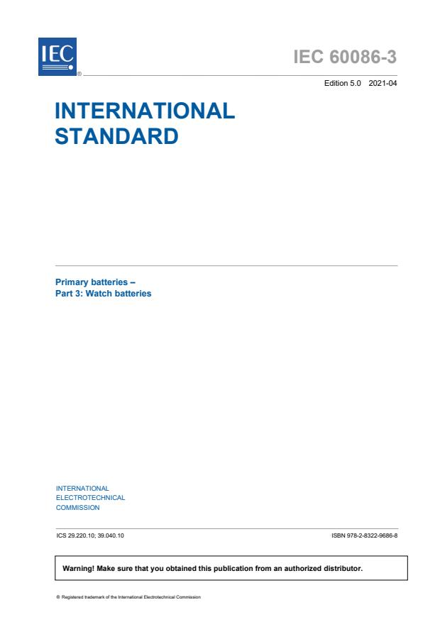 IEC 60086-3:2021