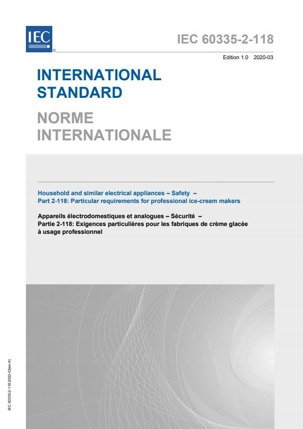 IEC 60335-2-118:2020