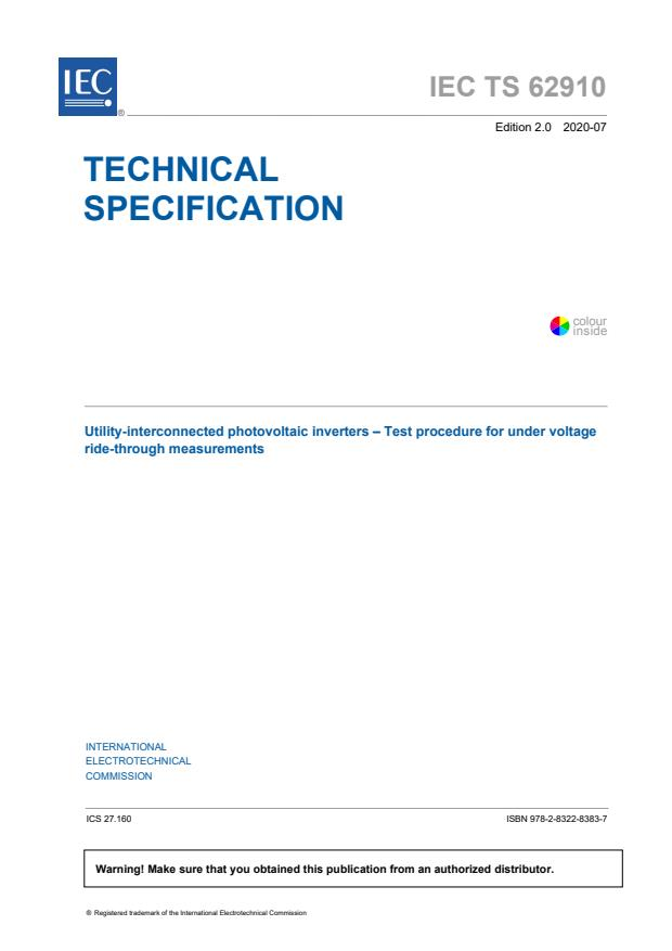 IEC TS 62910:2020