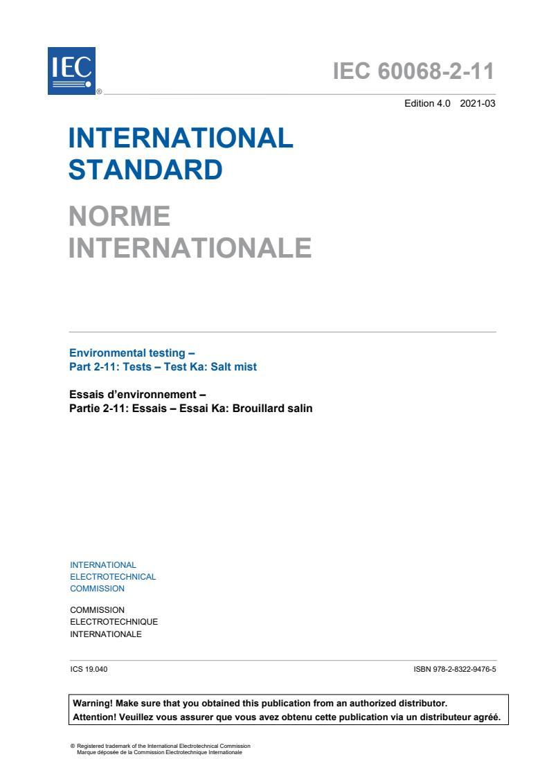 IEC 60068-2-11:2021