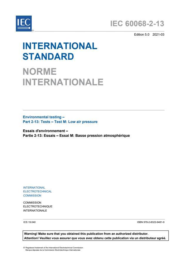 IEC 60068-2-13:2021