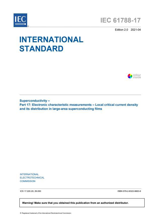IEC 61788-17:2021