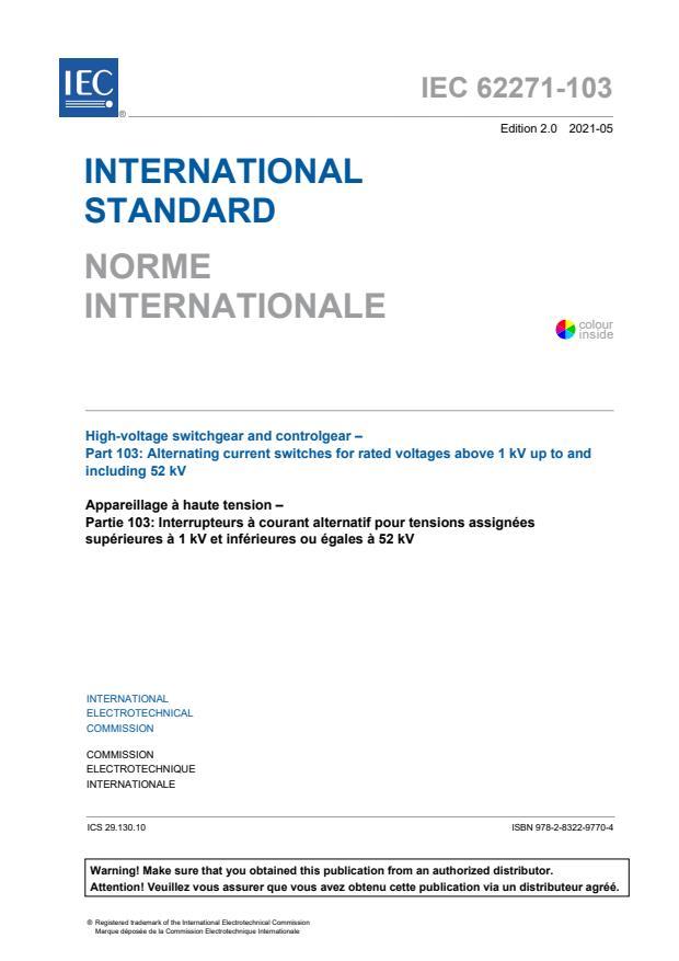 IEC 62271-103:2021