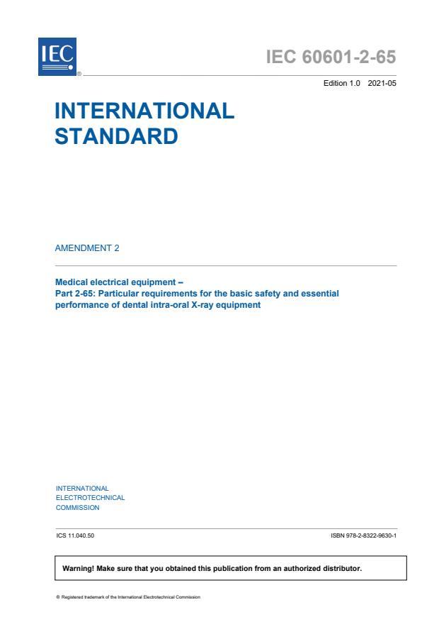 IEC 60601-2-65:2012/AMD2:2021
