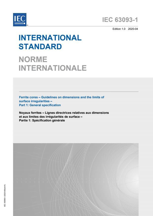 IEC 63093-1:2020