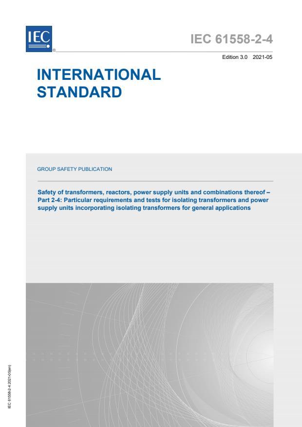 IEC 61558-2-4:2021