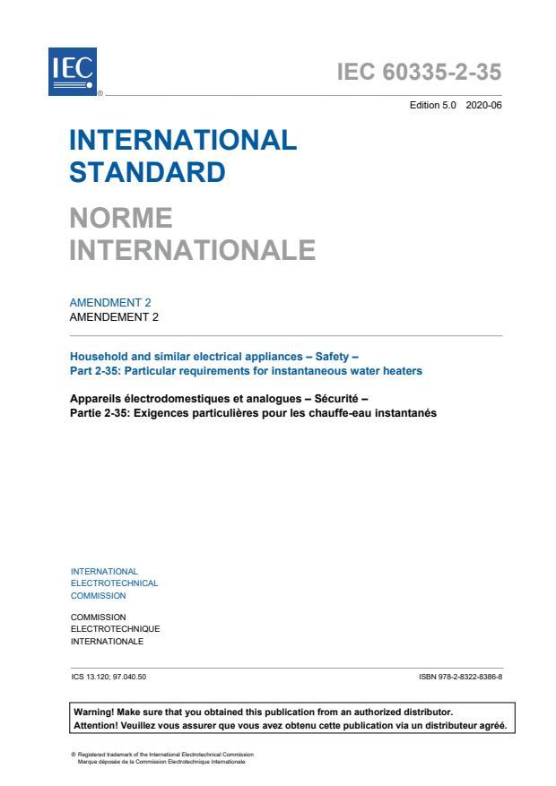 IEC 60335-2-35:2012/AMD2:2020