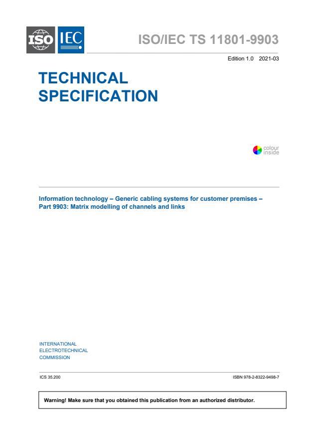 ISO/IEC TS 11801-9903:2021