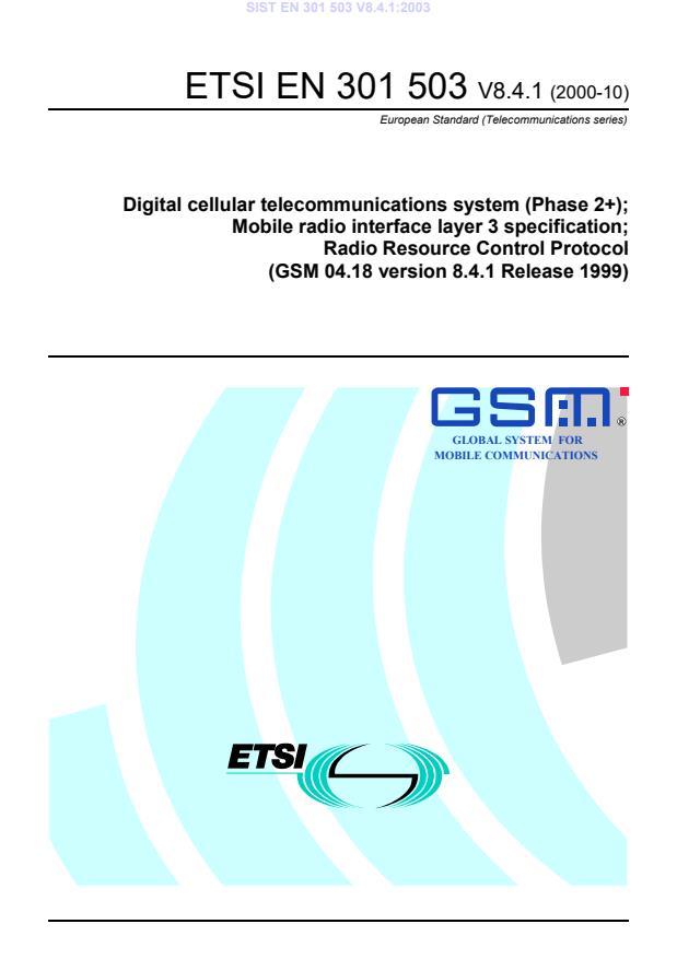 SIST EN 301 503 V8.4.1:2003