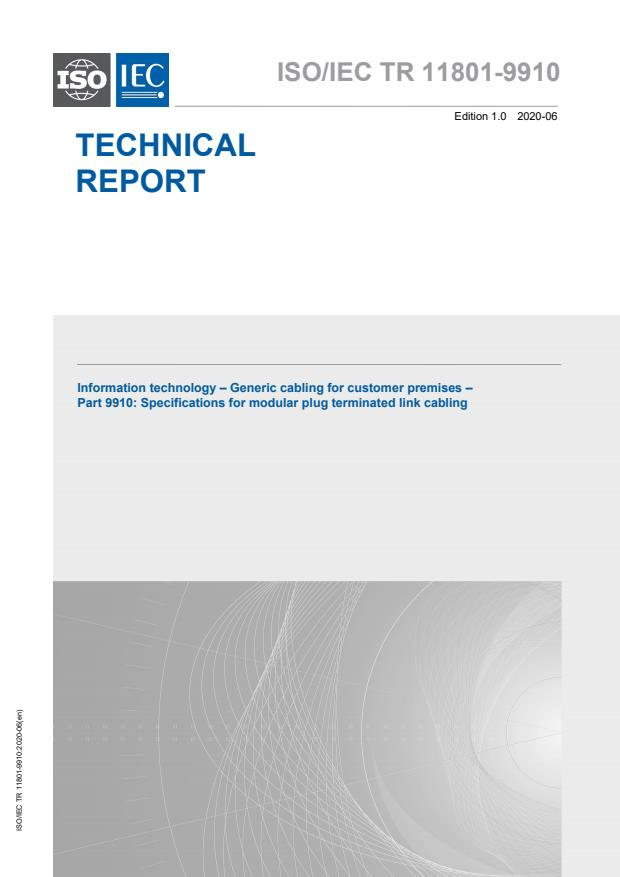 ISO/IEC TR 11801-9910:2020