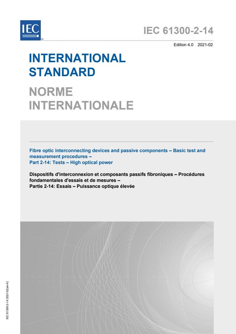 IEC 61300-2-14:2021