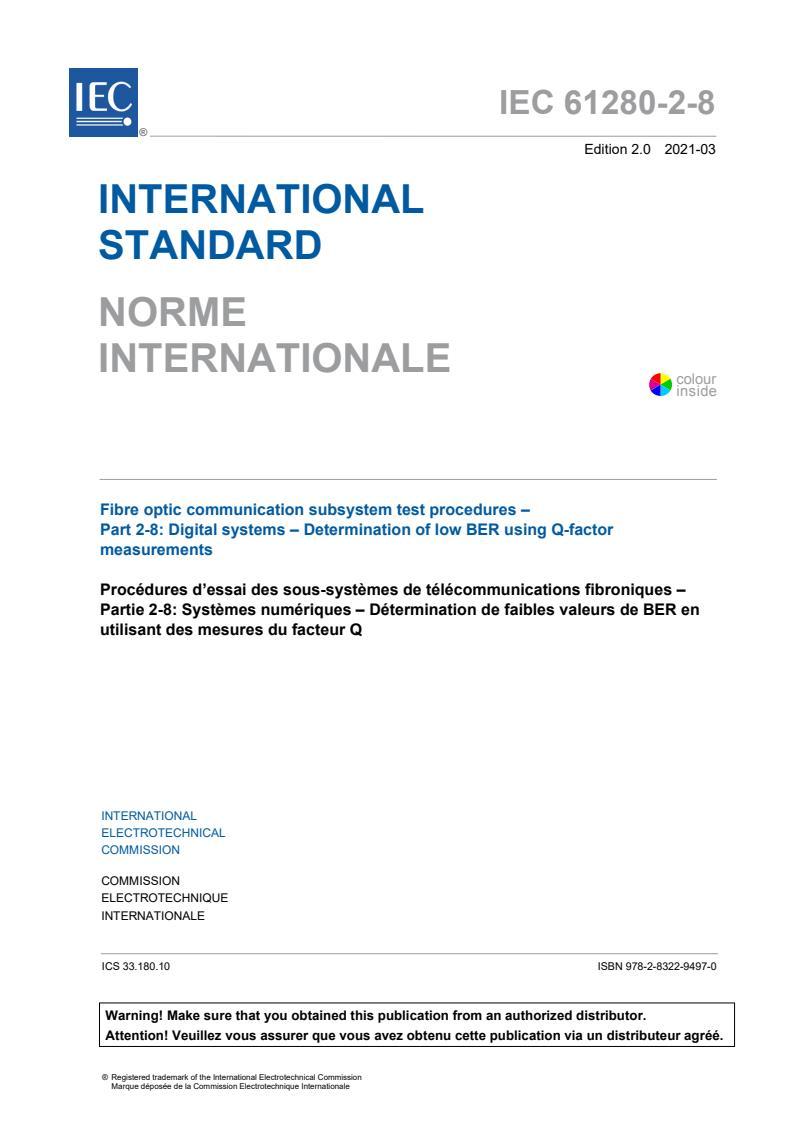 IEC 61280-2-8:2021
