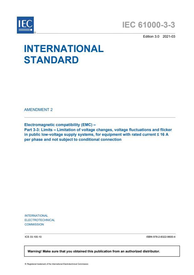 IEC 61000-3-3:2013/AMD2:2021