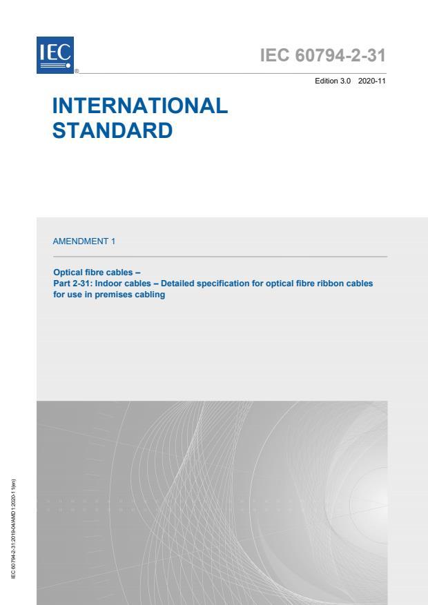 IEC 60794-2-31:2019/AMD1:2020