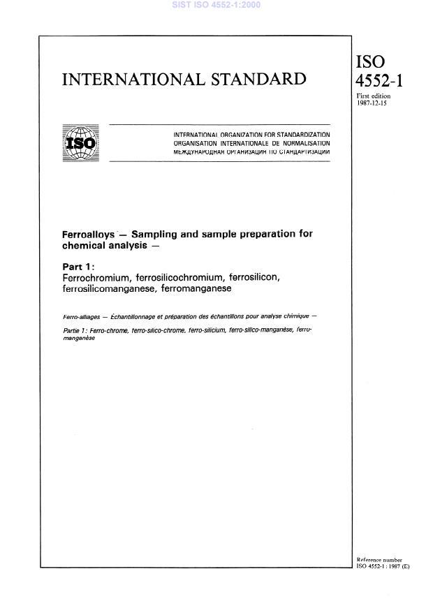 SIST ISO 4552-1:2000