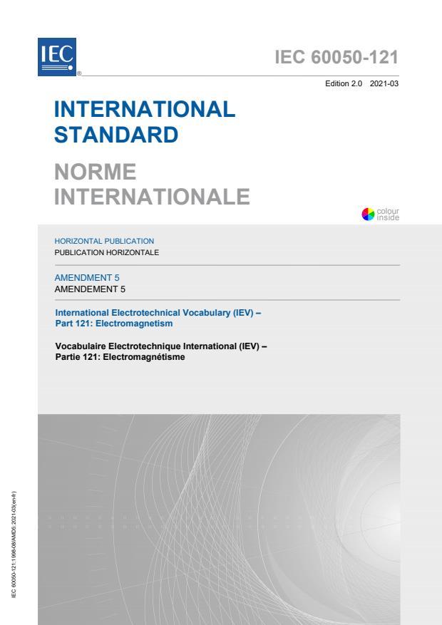 IEC 60050-121:1998/AMD5:2021