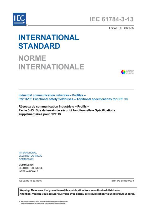 IEC 61784-3-13:2021