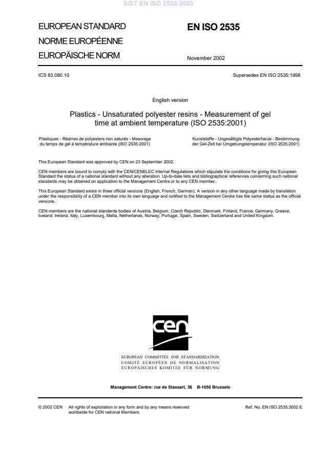 SIST EN ISO 2535:2003
