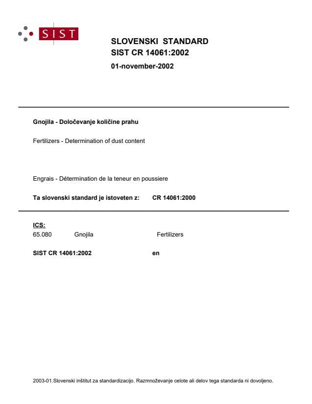 SIST CR 14061 2002