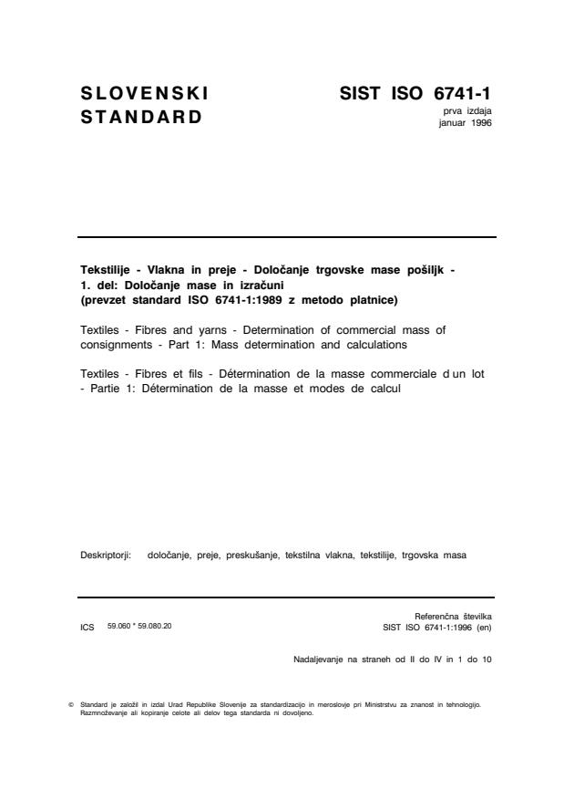 ISO 6741-1:1996