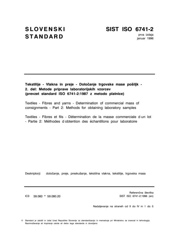 ISO 6741-2:1996