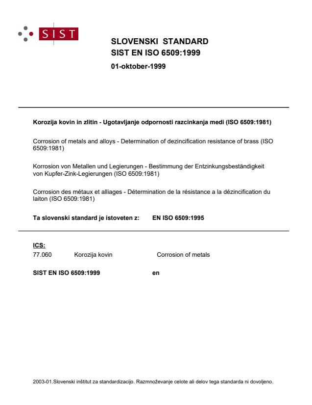 SIST EN ISO 6509:1999