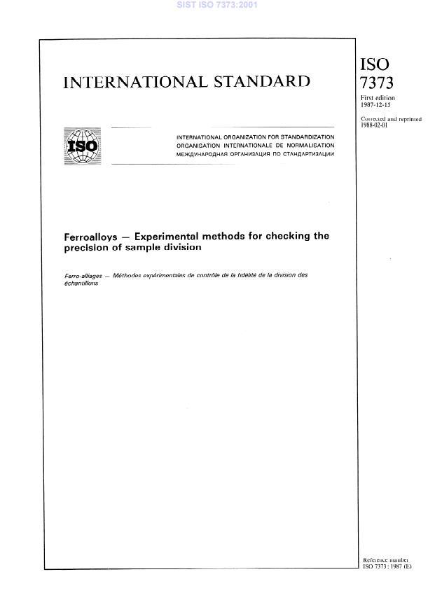 SIST ISO 7373:2001
