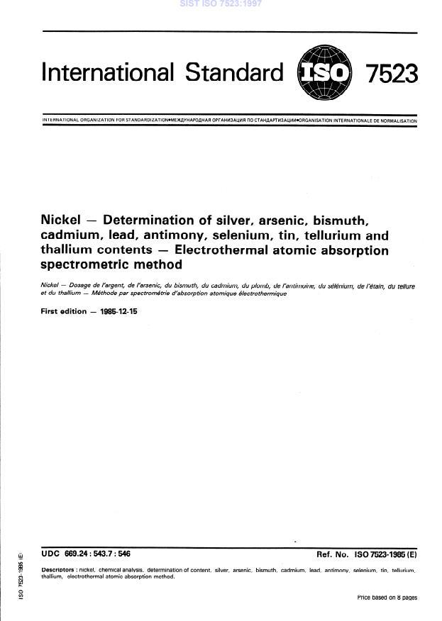 SIST ISO 7523:1997