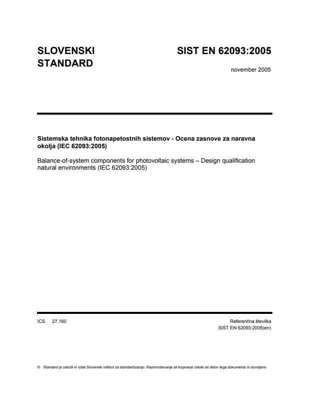 EN 62093:2005