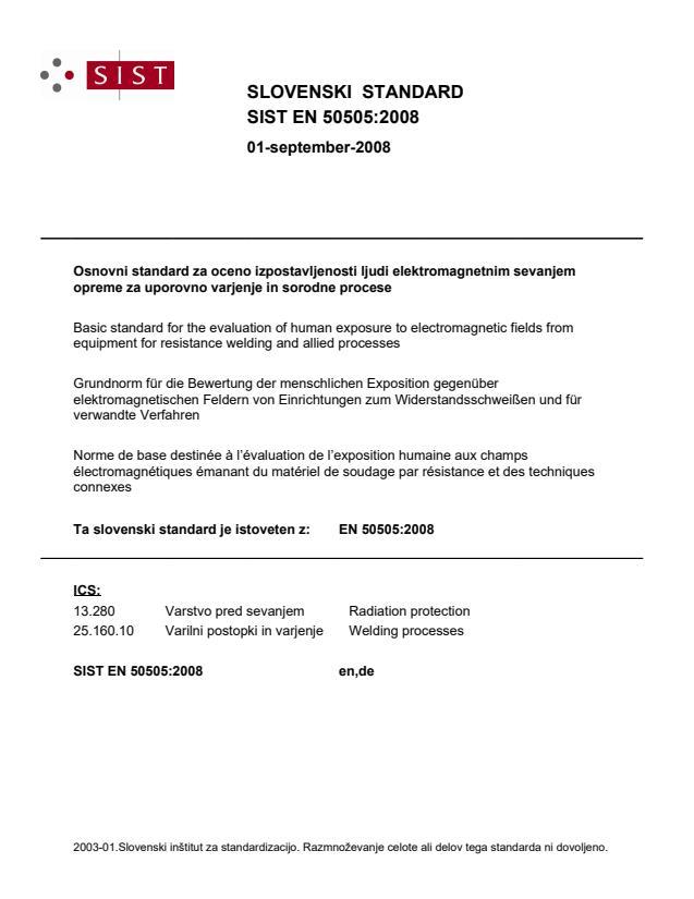 EN 50505:2008 - BARVE na PDF-str 20,50,51,52,53,54,55,57,58,59,68,69,70,71