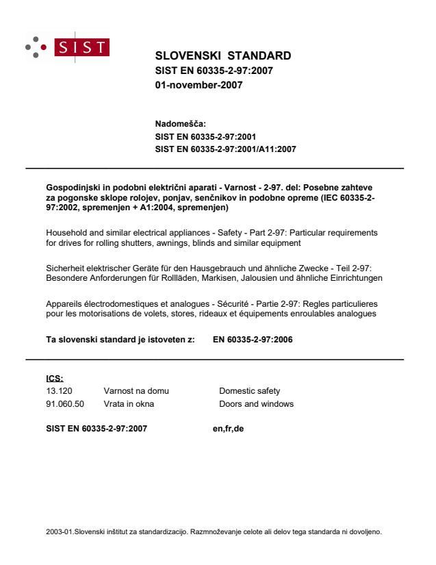 EN 60335-2-97:2007