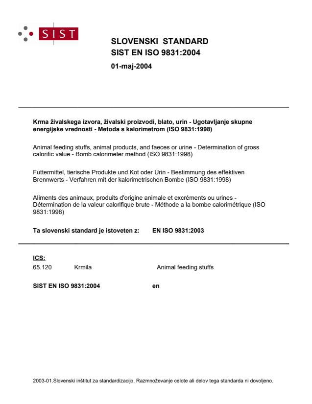 EN ISO 9831:2003