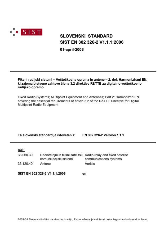 SIST EN 302 326-2 V1.1.1:2006