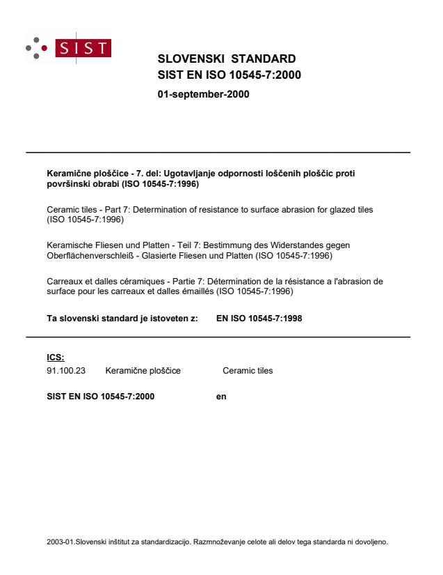EN ISO 10545-7:2000